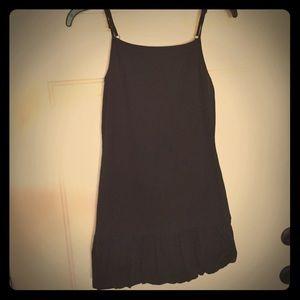 NEW WILD FABLE BLACK BUBBLE HEM DRESS